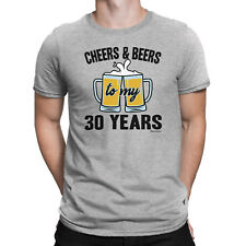 Mens 30th BIRTHDAY TShirt CHEERS And BEERS To 30 Years Old Gift Thirty