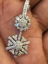 Pave 1,70 Cts Runde Brilliant Cut Natürliche Diamanten Anhänger In 14K Weißgold