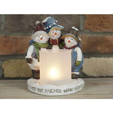 Tea Light Candle Holder Home Ornament Gift Christmas Snowman Snowmen Decoration