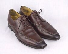 Men's SANTONI Sz 9 D Brown Tapered Cap Toe Dress Shoes Oxfords Made in Italy