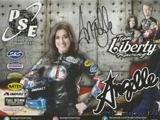 "2017 Angelle Sampey signed Team Liberty Racing ""1st issued"" PSM NHRA postcard"