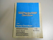 Harley-Davidson XLH / XLS 1981 Fahrerhandbuch  Owner´s manual