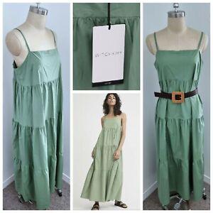 BNWT WITCHERY MAXI DRESS  [14 L] womens | Moss Green Summer Dress | rrp$159.95