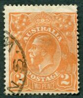 AUSTRALIA 1921 2d dull orange SG62a used NG King George V KGV #W36
