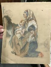 dessin original de Aimée Falcou d'après Isidore Pils époque 19 ème