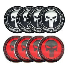 """(4 Pack) Punisher Sticker Decal Dome Metal Wheel Center Caps 2.20"""""""