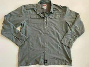 Wrangler Shirt Men's Large Outdoor Series Long Sleeve