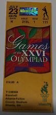 Ticket for collectors Olympic Games 1996 Baseball Nicaragua South Korea