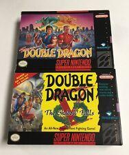 Super Double Dragon + Shadows Falls (Super Nintendo) SNES CIB Complete NM Lot