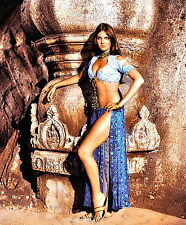 1970's CAROLINE MUNRO color movie promo photo (Celebrities & Musicians)