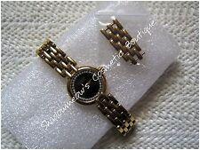 Raymond Weil Black Face Gold Tone Steel Quartz Women's Wristwatch 5806-2 A289721