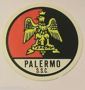 ADESIVO ORIGINALE anni '80 _ S.S.C. PALERMO Calcio (cm 9) Old Sticker Vintage