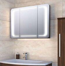 Moderner Design- Spiegelschrank 90 cm m. LED Lichtband in den Türen viele Farben