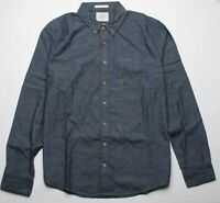 Deus Ex Machina Albie Flannel Shirt (XXL) Gray Chambray