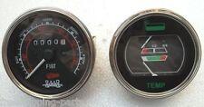 Fuel-Temperature Gauge Tachometer - fits Fiat,  White / Oliver, MM, AC Tractors