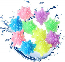 10pcs Laundry Ball, Dryer Laundry Ball Reusable Washing Machine Ball Color and