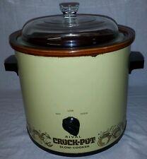 Vintage Rival Crock pot Slow Cooker Server 3100/2 Avocado Green Glass Lid 3.5QT