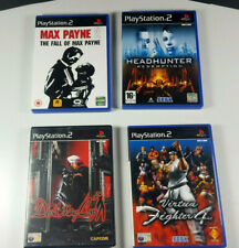 4 x PlayStation 2 PS2 Spiele Max Payne Headhunter VF 4 Devil May Cry PAL UK CIB