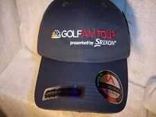 NEW NBC Golf AM Tour Srixon Gray Polyester Strapback Hat/Cap Antigua