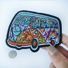 Hippie Bus Patch Psychedelic Art Sewing On Patch Embroidered Iron On Applique