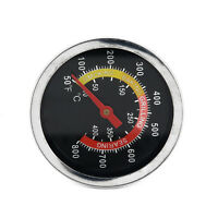 Stainless Steel BBQ Grill Thermometer Temperature Gauge Tool For Pit Smoker
