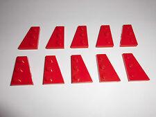 Lego (43722/43723) 10 Flügelplatten 2x3 (5x R.+5x L.), in rot aus 8142 8652 8075