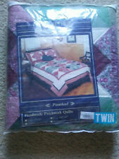 "Nwt ""Pinwheel"" Treasure Chest Handmade Twin Quilt Set With Shams - 68"" x 86"""