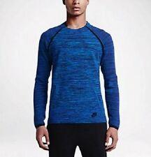 Nike Da Uomo Tech Knit Crew Sweater-Nuova con etichetta - 728669-439 - SZ SMALL-Hyper Cobalto