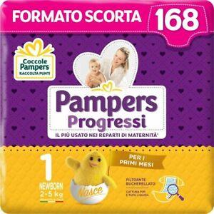 Pampers 168 Pannolini Progressi Newborn Taglia 1