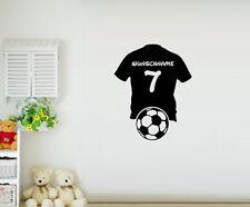 Wandtattoo Fußball Trikot Mit Wunschname Und Nummer Kinderzimmer Wandsticker