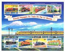 """Kongo Block """"Eisenbahn-Reisen"""""""