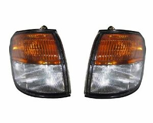 Pair Front Corner Turn Signal lamp Light for Mitsubishi Pajero Montero 1993-1996