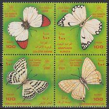 Oman 2000 ** Mi.478/81 Schmetterlinge Butterflies Insekten Insects