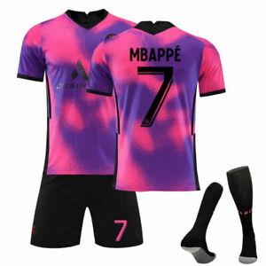 7# Kinder Trainingstrikot Herren 2020/21 Fußballtrikot 10# Set Paris Weg Mbappé~