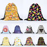 Emoji School Drawstring Book Bag Sport Gym Swim PE Dance Girls Boys Backpack