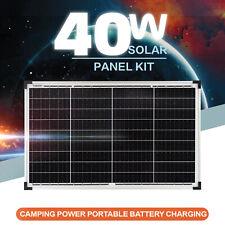 40w 12v Solar Panel Kit Caravan Camping Power Battery Charging MPPT Controller