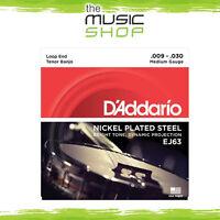 D'Addario EJ63 4-String Tenor Banjo Strings - Medium 9-30 - Daddario