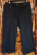 Pantology Stretch Women's Capri Dress Pants Black Size 8