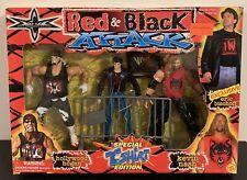 NEW WCW Red & Black Attack Action Figure Set Hulk Hogan Kevin Nash WWE NWO RARE