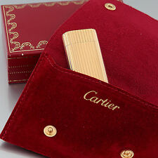 Cartier Feuerzeug - les must de Cartier - Ribbed Lighter - vergoldet