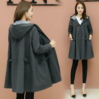 Womens Outwear Overcoat Spring Autumn Hip Long Trench Coat Fashion Jacket 040306