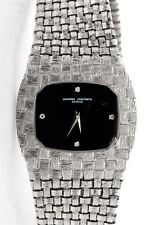Vintage $15,000 Vacheron Constantin 18k White Gold FANCY LINK Diamond Mens Watch