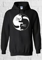 Ying Yang Cat Kittens Cute Funny Men Women Unisex Top Sweatshirt Hoodie 2289