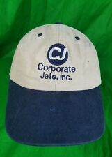 CJ Corporate Jets inc Pilot Plane Distressed Destroyed Snapback Cap