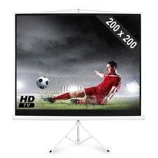 200x200cm TRIPOD STATIV LEINWAND 1:1 / 4:3 MOBILE HD VIDEO BEAMER PROJEKTOR WAND