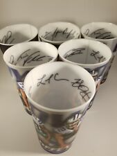 Lot of 6 NFL Dallas Cowboys 3-D Souvenir Signed Cups.  Collins,  Smith, Martin.