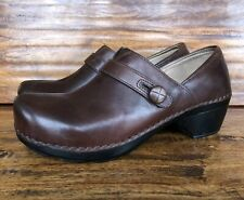 Women's Dansko Clog Loafers Brown Leather EU 41 US 10