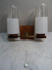 mid century design -  Zwei flammige Wandlampe vintage teak Danish Design 60's