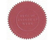 Deed Poll on Disc - Adult 16yrs + - Change of Name - inc 2 x Wafer Seal