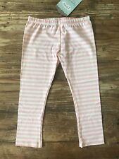Persnickety Sz 6 Basic Pink Stripe Leggings NWT